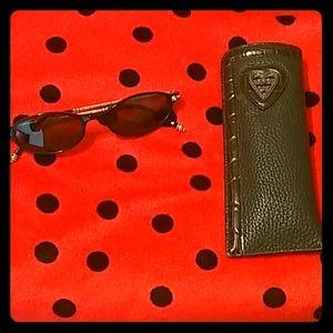 Leather Brighton Eyeglass Case w/ Sunglasses